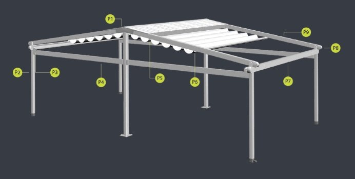 Pergola GALA ECO DOUBLE TILTED